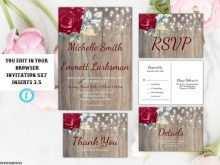 90 Customize Marsala Wedding Invitation Template With Stunning Design by Marsala Wedding Invitation Template