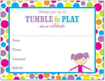 90 Online Birthday Invitation Templates Gymnastics in Photoshop by Birthday Invitation Templates Gymnastics