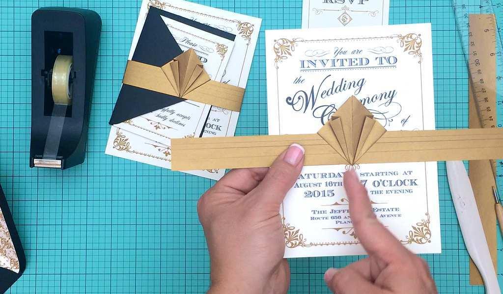 91 Adding Gatsby Wedding Invitation Template Free Maker with Gatsby Wedding Invitation Template Free