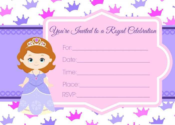 91 Best Sofia The First Invitation Blank Template Maker for Sofia The First Invitation Blank Template