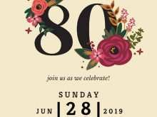 91 Blank 80Th Birthday Invitation Template Uk PSD File for 80Th Birthday Invitation Template Uk