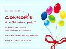 92 Adding Children S Birthday Invitation Template Formating for Children S Birthday Invitation Template