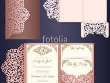 Laser Cut Wedding Invitation Card Template Vector