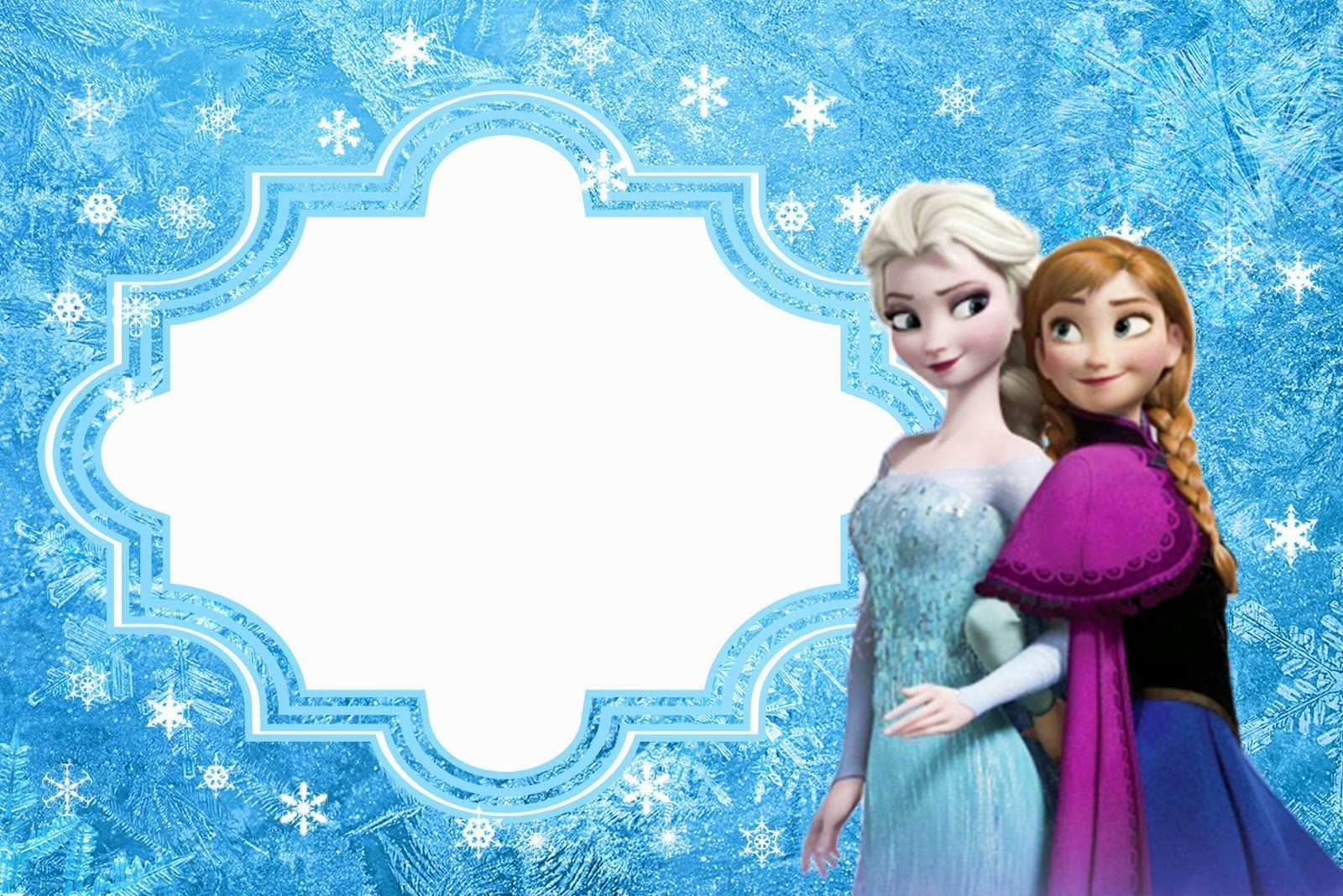 92 Creating Frozen Birthday Invitation Blank Template Maker by Frozen Birthday Invitation Blank Template