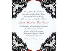92 Creating Wedding Invitation Templates Red And White Now by Wedding Invitation Templates Red And White