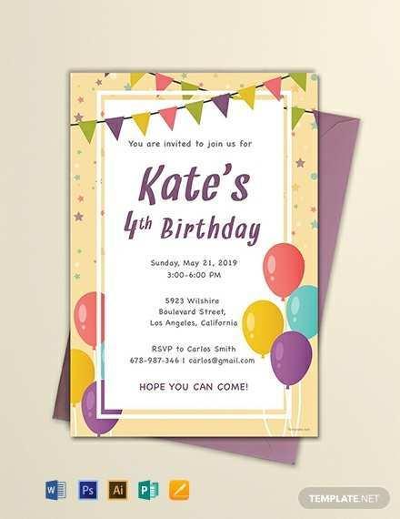 92 Printable Birthday Invitation Template With Photo Maker by Birthday Invitation Template With Photo