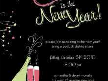 92 The Best New Year Party Invitation Template Templates by New Year Party Invitation Template