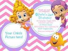 93 Report Blank Bubble Guppies Invitation Template With Stunning Design by Blank Bubble Guppies Invitation Template