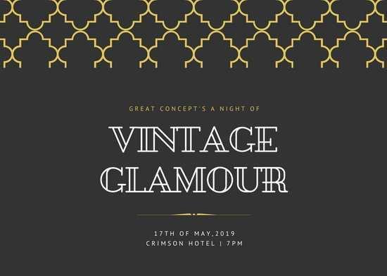 93 The Best Gatsby Wedding Invitation Template Free Layouts by Gatsby Wedding Invitation Template Free