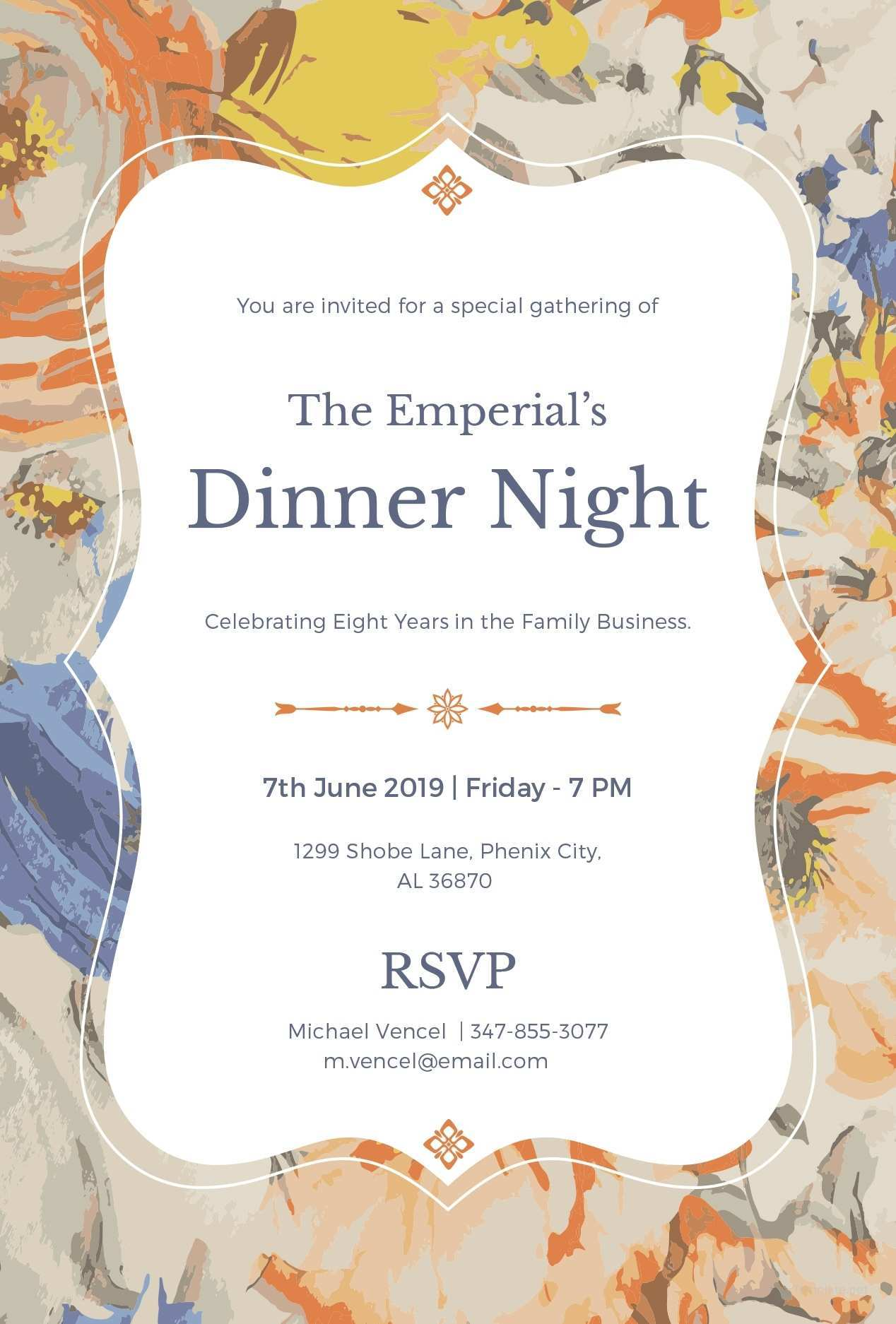 3 Creating Formal Dinner Invitation Example Photo by Formal