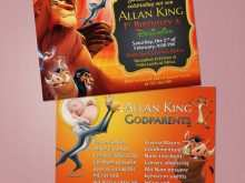 94 How To Create Lion King Birthday Invitation Template Free Download by Lion King Birthday Invitation Template Free