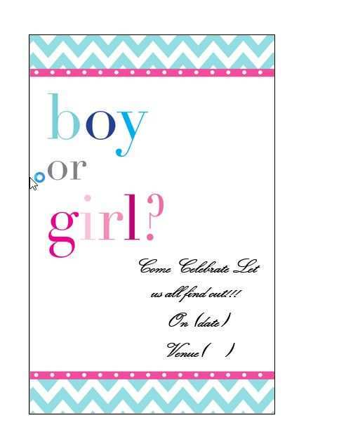 95 Blank Blank Gender Reveal Invitation Template for Ms Word for Blank Gender Reveal Invitation Template