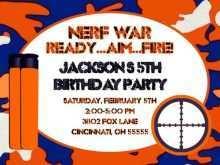 95 Creating Free Nerf Birthday Party Invitation Template in Photoshop for Free Nerf Birthday Party Invitation Template
