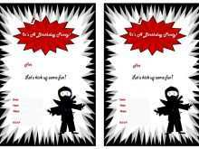 95 Customize Our Free Ninja Party Invitation Template Free Photo with Ninja Party Invitation Template Free