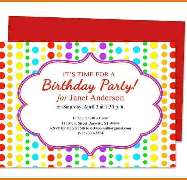 Ms Word Birthday Invitation Template from legaldbol.com