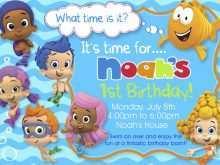 95 Free Blank Bubble Guppies Invitation Template Templates by Blank Bubble Guppies Invitation Template