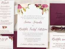 95 Report Marsala Wedding Invitation Template Now with Marsala Wedding Invitation Template