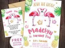 Flamingo Party Invitation Template Free