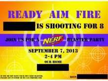 97 Customize Our Free Free Nerf Birthday Party Invitation Template Now with Free Nerf Birthday Party Invitation Template