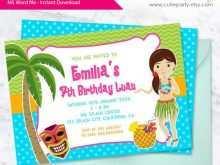 97 Printable Hawaiian Party Invitation Template Download with Hawaiian Party Invitation Template