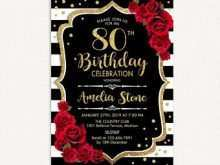 71 Free Printable 80Th Birthday Invitation Template Uk Templates For