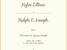 Wedding Invitation Layout Sample