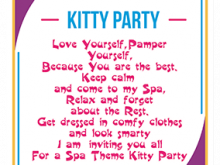 11 Best Kitty Party Invitation Template Photo with Kitty Party Invitation Template