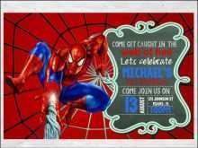 11 Blank Spiderman Party Invitation Template Free Now for Spiderman Party Invitation Template Free