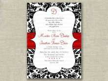 Wedding Invitation Template Black And White