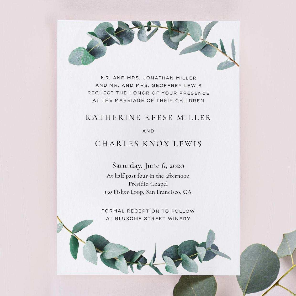 11 Customize Example Of Civil Wedding Invitation Card Templates for Example Of Civil Wedding Invitation Card