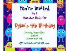 11 Customize Monster Birthday Invitation Template Photo for Monster Birthday Invitation Template
