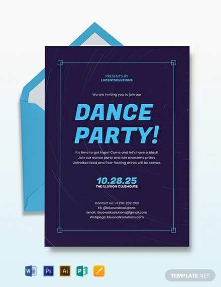 11 Free Printable Party Invitation Template Adobe For Free with Party Invitation Template Adobe