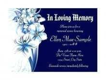 11 Standard Elegant Funeral Invitation Template With Stunning Design for Elegant Funeral Invitation Template
