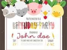 11 The Best Birthday Invitation Template Animals Download by Birthday Invitation Template Animals