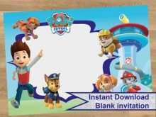 11 The Best Paw Patrol Birthday Invitation Template Free Formating with Paw Patrol Birthday Invitation Template Free
