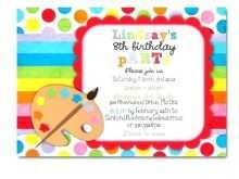 12 Best Art Party Invitation Template Photo with Art Party Invitation Template