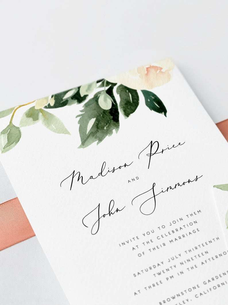 12 Best Blush Pink Wedding Invitation Template PSD File for Blush Pink Wedding Invitation Template