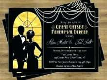 12 Creative Great Gatsby Party Invitation Template Free Templates with Great Gatsby Party Invitation Template Free