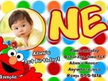 12 Online Elmo Birthday Invitation Template in Word for Elmo Birthday Invitation Template