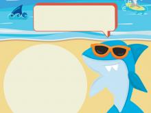 12 Standard Baby Shark Birthday Invitation Template in Photoshop by Baby Shark Birthday Invitation Template