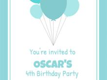 12 Standard Birthday Invitation Template Balloons Download with Birthday Invitation Template Balloons