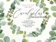 12 Standard Wedding Invitation Template Eucalyptus With Stunning Design by Wedding Invitation Template Eucalyptus