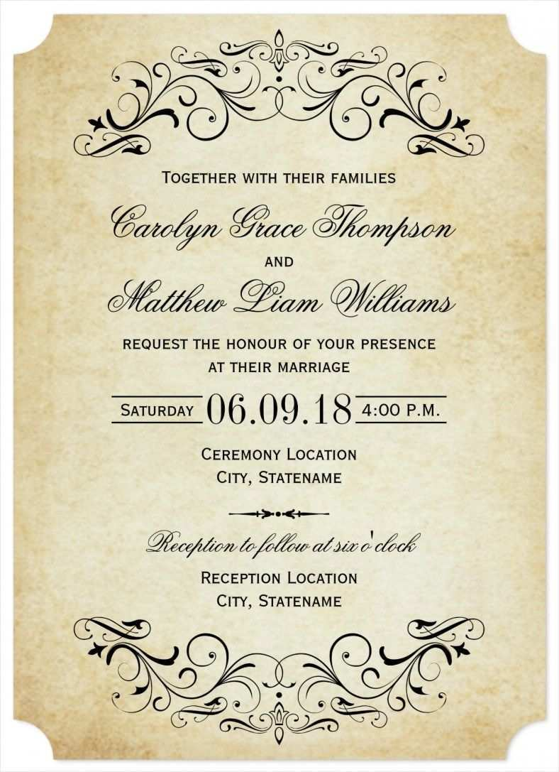 12 The Best Elegant Wedding Invitation Designs Free for Ms Word for Elegant Wedding Invitation Designs Free