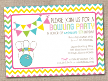 12 The Best Party Invite Template Bowling PSD File with Party Invite Template Bowling