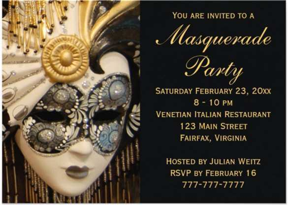13 Best Masquerade Party Invitation