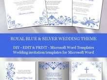 13 Best Royal Blue Wedding Invitation Template in Photoshop by Royal Blue Wedding Invitation Template