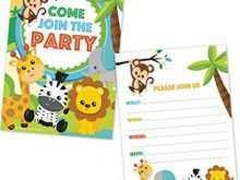 13 Blank Blank Safari Invitation Template in Word with Blank Safari Invitation Template