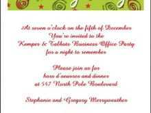 Employee Christmas Party Invitation Template