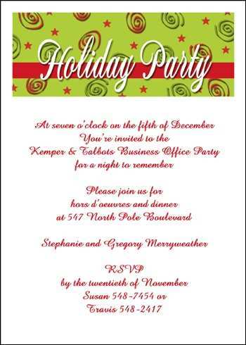 Employee Christmas Party Invitation Template Cards