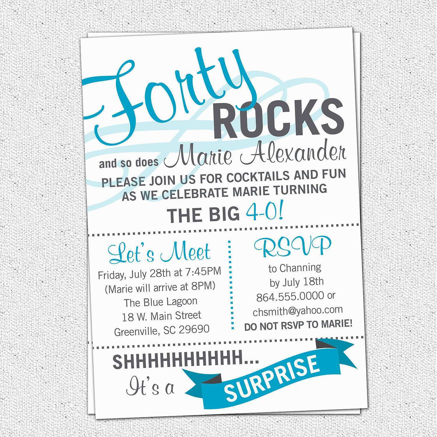 4 Create Surprise Party Invitation Template Uk Layouts with